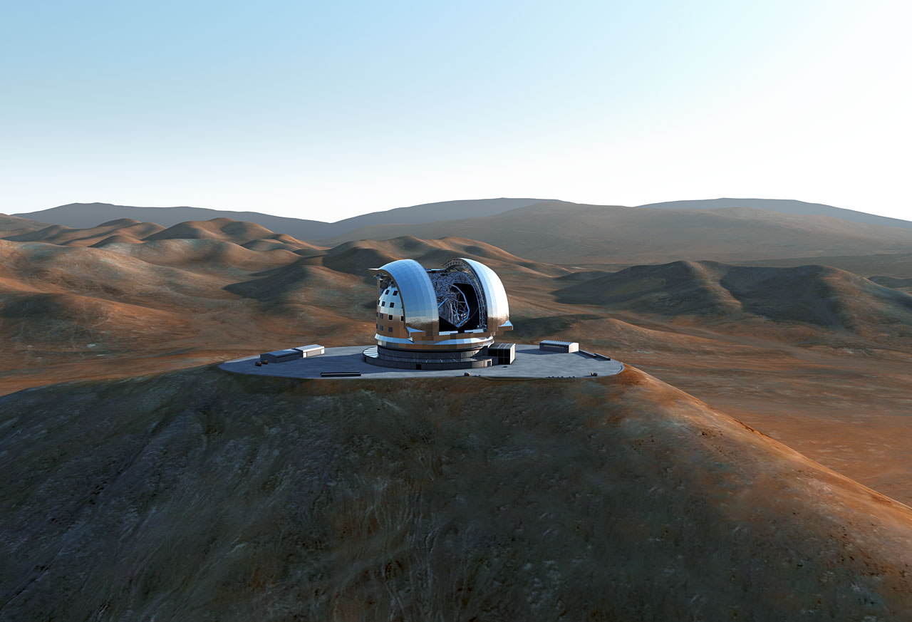 E-ELT Concept Image, courtesy of ESO.