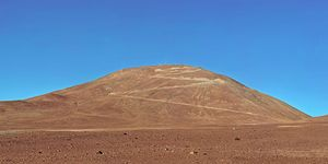 View of Cerro Armazones in the Chilean desert.