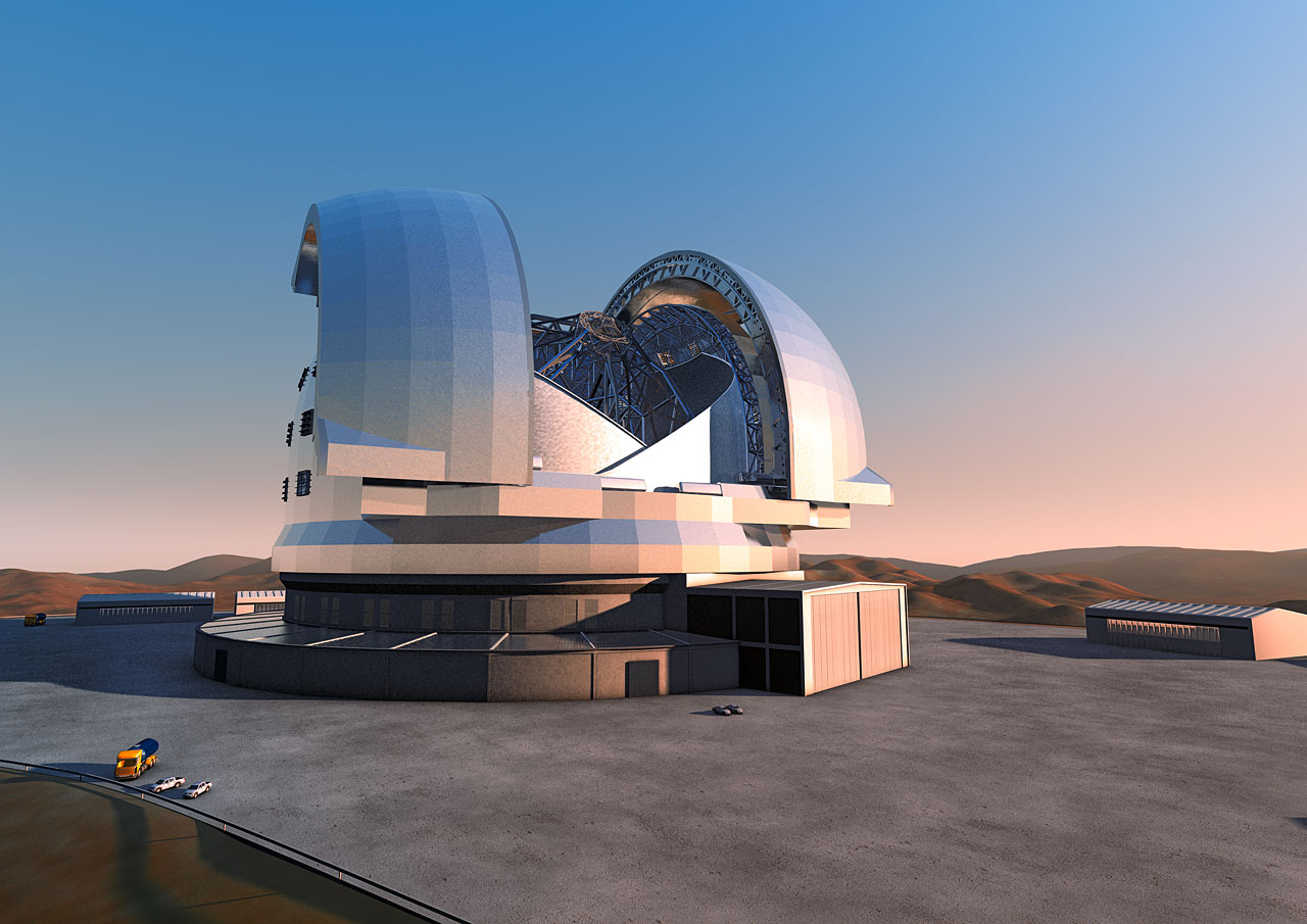Preliminary E-ELT Concept Image, courtesy of ESO.